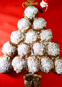 Xmasクリスマスツリーチョコちぎりパン