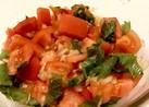 トマトと玉ねぎの和風しそマリネ風
