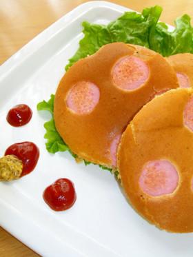 ペッパー&ソーセージ…水玉ホットケーキ♪
