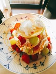 クランペット 英国風発酵パンケーキの写真