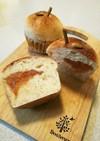 自家製酵母でりんごジャムパン