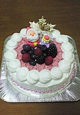 Wチーズケーキ(クリスマスデコレーション