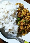 豆腐でキーマカレー