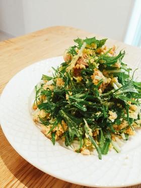 おからと水菜のサラダ