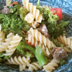 牛肉とブロッコリーのにんにくパスタ