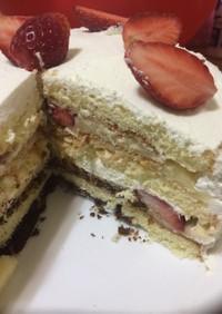 再現!ミルフィーユシャンティ風ケーキ