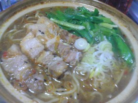 厚切り豚肉de坦々麺~☆