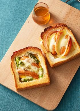 シャウエッセンのチーズフォンデュトースト