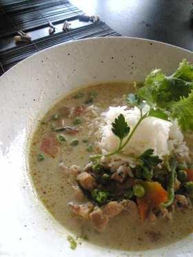 グリーンカレー&タイ米の炊き方