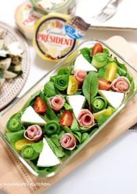 フラワーボックス風サラダ