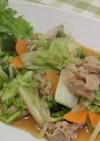 白菜と豚肉のササっと炒めあんかけ風