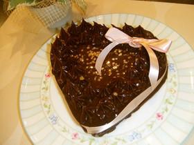 本命バレンタインに♡ハートのチョコケーキ