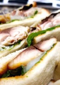 鯖の西京焼サンドイッチ♡