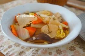 ヘルシー♪白身魚と白菜と根菜の塩昆布煮