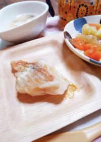 離乳食☆白身魚の醤油焼き