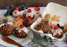 HMでクリスマス☆ココアのカップケーキ