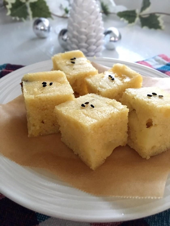 レンジで!さつまいもと林檎の蒸しケーキ♡