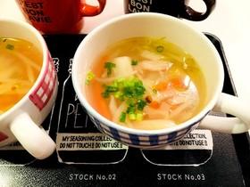 キャベツの芯のスープ♪中華味
