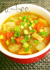 レンジでトロトロ♡大根の中華カレースープ