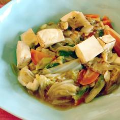 焼き豆腐と白菜のオイスターソース煮