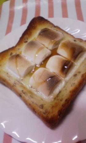 朝から元気♪マシュマロトーストw