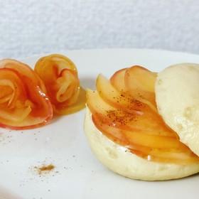 簡単アップルシナモン+クリームチーズ