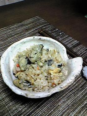 地元人が作る牡蠣飯