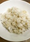 白米と玄米と押し麦を混ぜて炊飯器で炊く
