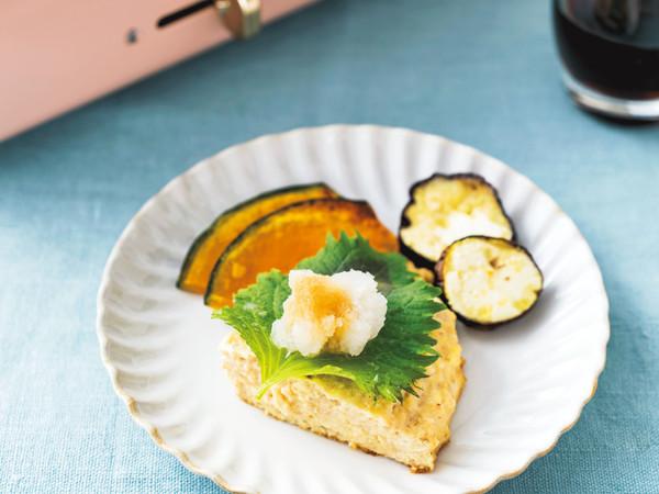 お豆腐つくねのおろしポン酢&グリル野菜