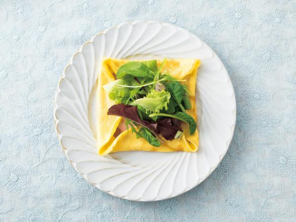 ハム&チーズとフレッシュ野菜のクレープ