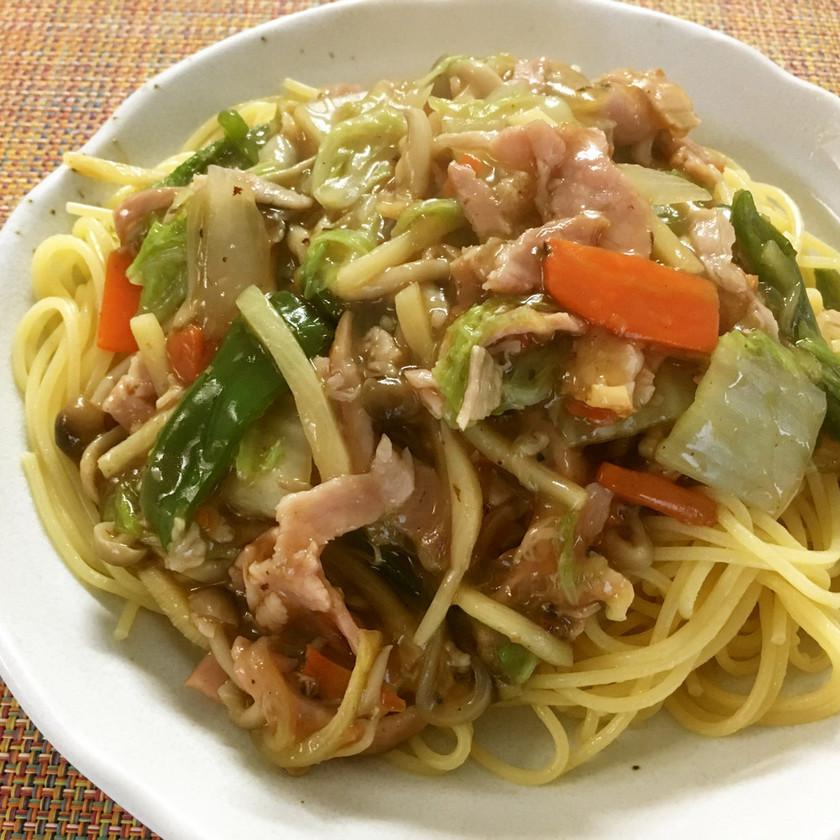 中華風あんかけスパゲティ