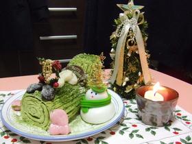 クリスマス♪抹茶のブッシュ・ド・ノエル☆