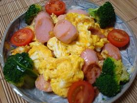 簡単シンプル!ソーセージの卵とじ