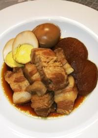 圧力鍋で簡単美味しい大根&卵と豚の角煮♪