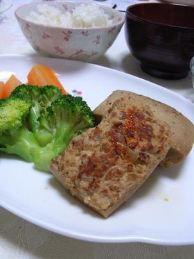 ボリュームアップ!つくねon高野豆腐。