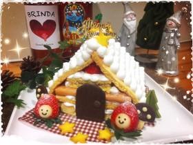 ★クリスマス☆お菓子の家ケーキ★