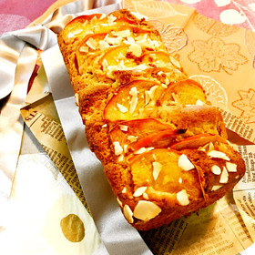 絶品♡柿クリームチーズのパウンドケーキ
