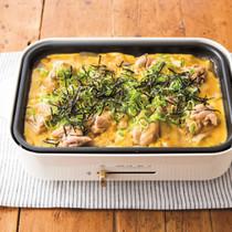 鶏もも肉と玉ねぎのすき焼き風とろとろ卵とじ