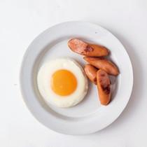 まんまる目玉焼き&ソーセージソテー