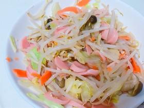 野菜と魚ソーセージのバター炒め