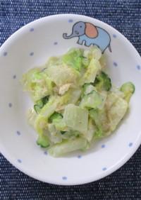 白菜のごまマヨあえ