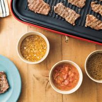 3種のたれで楽しむ焼き肉
