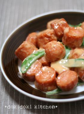 魚肉ソーセージで♡えびマヨ風
