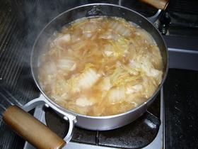 白菜とお肉の味噌煮