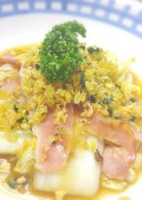 白菜のコンソメスープ❤カリカリ香草パン粉
