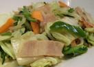 白菜・春菊のササっと炒めベーコンカレー味