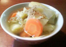 たっぷり生姜☆鶏と野菜の中華風スープ