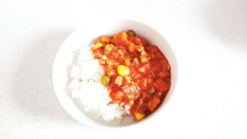 トマトピューレを使ったツナと野菜の離乳食