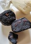 寒風あてて 柚餅子を作る
