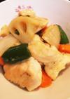 鶏胸肉と野菜のゆずポン酢炒め